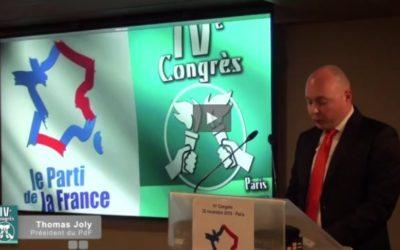 IVe Congrès du Parti de la France – le relais