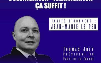 Samedi 12 septembre, 14h, à Paris: meeting du Parti de la France.