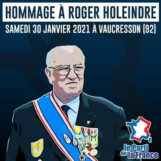 Hommage à Roger Holeindre.
