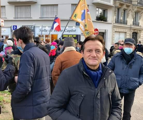 Membre du Bureau politique, Alexandre Simonnot était présent à la manif des Patriotes.