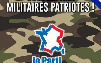 Tribune des militaires : un communiqué de Thomas JOLY, Président du PdF.