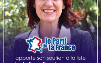 Soutien du PdF à la liste de Valérie Laupies.