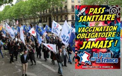 Passe sanitaire : un communiqué de Thomas Joly, Président du PdF.