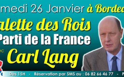 Carl Lang à Bordeaux
