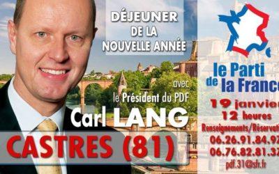 Carl Lang à Castres samedi 19 janvier
