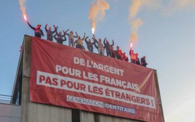Des Identitaires occupent la Caisse d'allocations familiales de Bobigny en Seine-Saint-Denis !