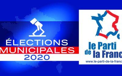 Élections municipales 2020 : le Parti de la France sera au rendez-vous