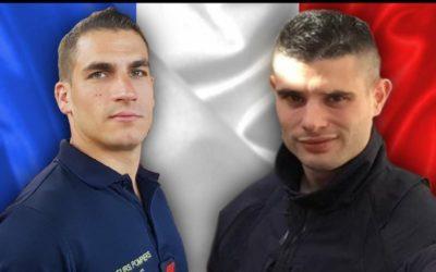 Hommage aux sapeurs pompiers tués rue de Trévise : Nathanaël Josselin et Simon Cartannaz