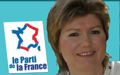 Huguette François, candidate du Parti de la France pour la législative partielle dans la 1ère circonscription du Val d'Oise