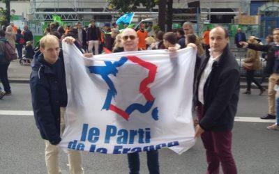 Le Parti de la France est présent à la grande manifestation contre la PMA sans père