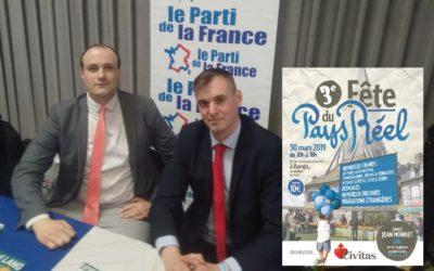 Le Parti de la France présent à la Fête du Pays Réel samedi 30 mars à Rungis