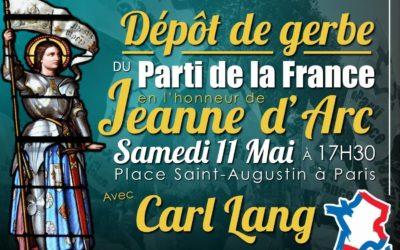 Samedi 11 Mai, hommage à Sainte Jeanne d'Arc