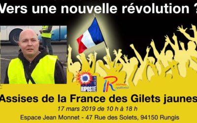 Thomas Joly interviendra lors des Assises de la France des Gilets Jaunes dimanche 17 mars à Rungis