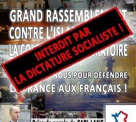 L'État socialiste interdit le Rassemblement du Parti de la France à Amiens !